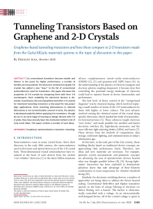 Tunneling Transistors Based on Graphene and 2