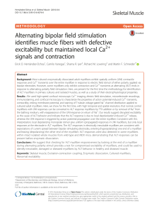 Alternating bipolar field stimulation identifies muscle fibers with