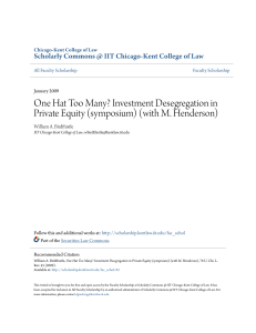 One Hat Too Many? Investment Desegregation in Private Equity