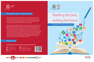 fifty years of promoting literacy - UNESDOC