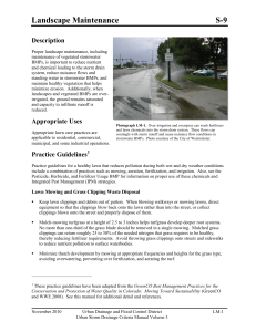 S-09 Landscape Maintenance - Urban Drainage and Flood Control
