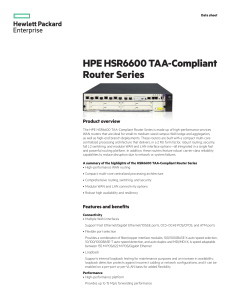 HPE HSR6600 TAA-Compliant Router Series