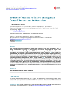 Sources of Marine Pollution on Nigerian Coastal Resources: An