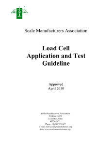 Load Cell Application and Test Guideline