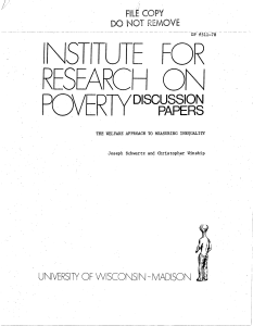 V - Institute for Research on Poverty