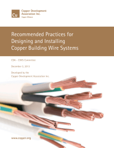 Building Wire Systems - Copper Development Association Inc.