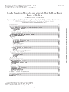 Signals, Regulatory Networks, and Materials That Build and