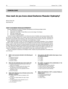 How much do you know about Duchenne Muscular Dystrophy?