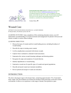 Wound Care - Continuing Education Course