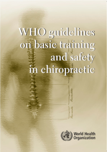 WHO guidelines on basic training and safety in chiropractic
