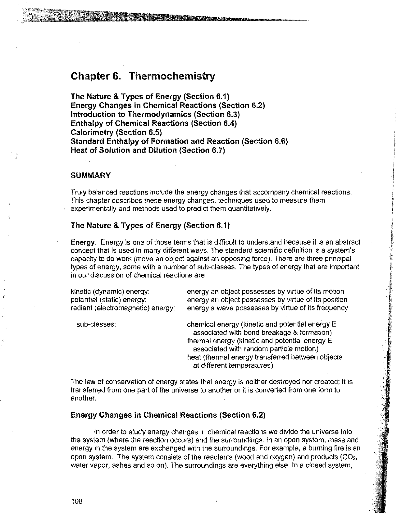 Chapter 6  Therrnochemistry