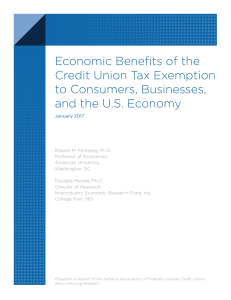 Economic Benefits of the Credit Union Tax Exemption to Consumers