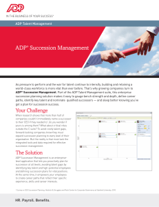 ADP® Succession Management