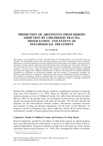Prediction of abstinence from heroin addiction by childhood trauma