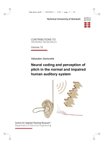 Neural coding and perception of pitch in the normal and