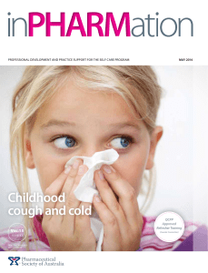 Childhood cough and cold - Pharmaceutical Society of Australia