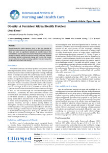 Obesity: A Persistent Global Health Problem