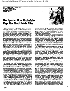 Die Spinne: How Rockefeller Kept the Third Reich Alive