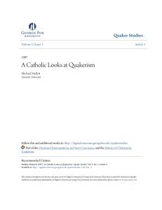 A Catholic Looks at Quakerism - Digital Commons @ George Fox