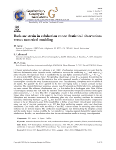 Back-arc strain in subduction zones: Statistical observations versus