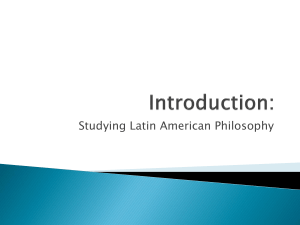 Studying Latin American Philosophy
