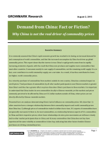 Demand from China: Fact or Fiction?