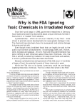 Why is the FDA Ignoring Toxic Chemicals in Irradiated Food?