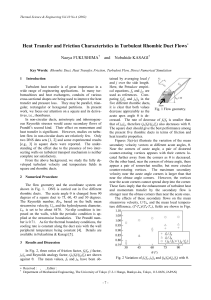 Heat Transfer and Friction Characteristics in Turbulent