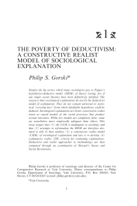 The Poverty of Deductivism: A Constructive Realist Model of