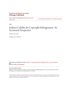 Indirect Liability for Copyright Infringement: An Economic Perspective