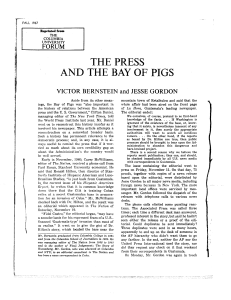 THE PRESS AND THE BAY OF PIGS