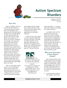 Autism Spectrum Disorders - Illinois State Board of Education