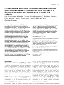 Comprehensive analysis of thiopurine S