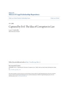 Captured by Evil: The Idea of Corruption in Law