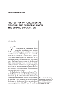 protection of fundamental rights in the european union