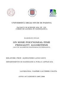 On some polynomial-time primality algorithms
