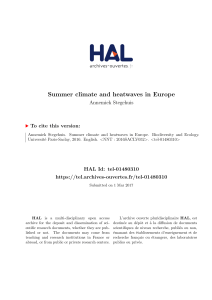 Summer climate and heatwaves in Europe