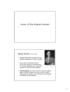 Hume: Of the Original Contract David Hume (1711