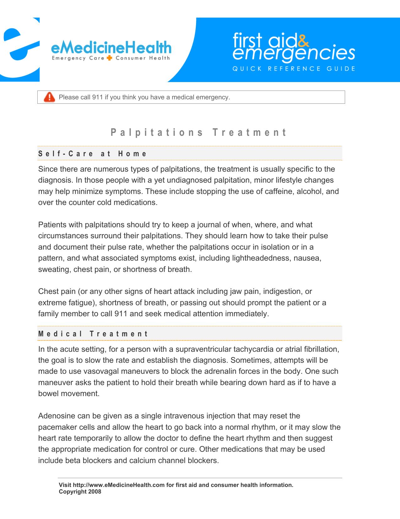 Palpitations Treatment