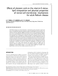 Effects of phytanic acid on the vitamin E status, lipid composition and