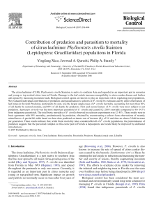Contribution of predation and parasitism to mortality of citrus