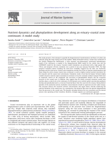Nutrient dynamics and phytoplankton development along an