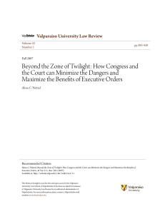 Beyond the Zone of Twilight: How Congress and the