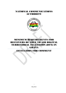 Draft Minimum Requirements for FTA Digital Television Receivers