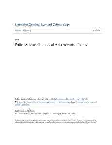 Police Science Technical Abstracts and Notes