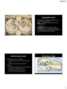 Map Projections notes from PPT