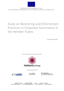 Study on Monitoring and Enforcement - European Commission