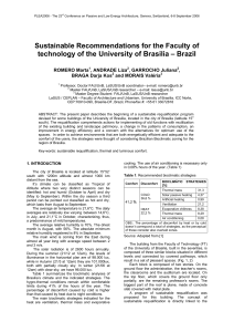Sustainable Recommendations for the Faculty of technology of the