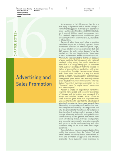 Advertising and Sales Promotion - McGraw Hill Learning Solutions