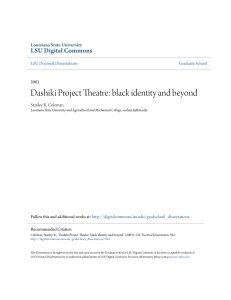 Dashiki Project Theatre: black identity and beyond